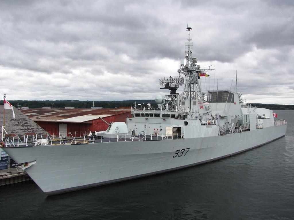 BONV's do day cruises on Visiting Ships - Like HMCS Fredericton