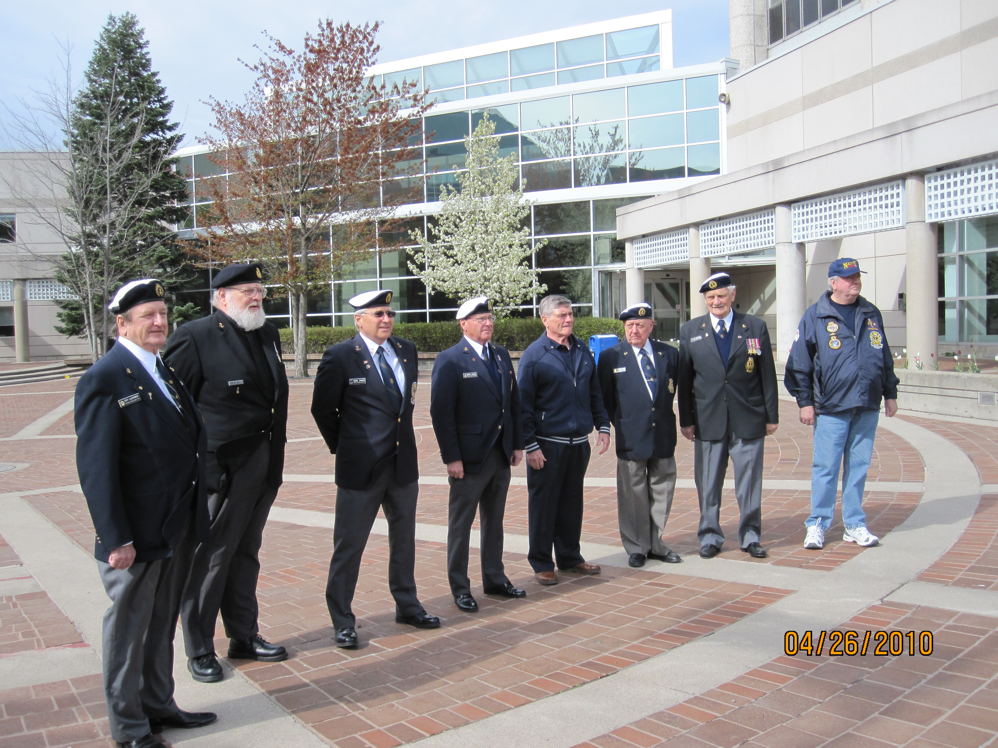 Navy Week Flag Raising - Burlington