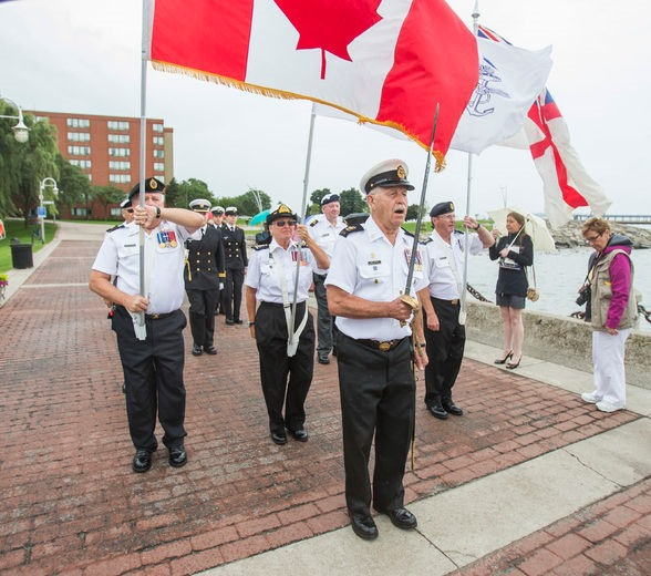 Parade Commander Mike Vencel and the Colour Party